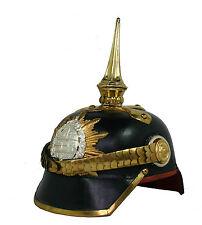 Pickelhaube Leder Offizier Pickelhelm Helm Mecklenburg  Larp Tschako L69