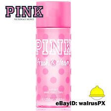 Victoria's Secret PINK FRESH & CLEAN Body Mist and Spray Splash 8.4 OZ FULL SIZE