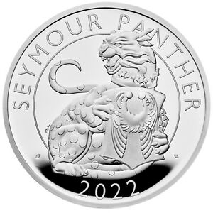 The Seymour Panther - The Royal Tudor Beasts 1 Oz Silber Proof 2 £ UK 2022