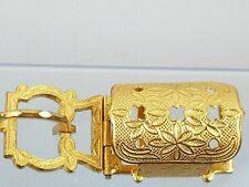 Vintage Gold-tone Leaves Design Belt Buckle Made in Laubenburg