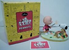 Hallmark Peanuts Gallery Charlie Brown & Snoopy Working Together Figurine