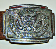 VINTAGE 1920s-30s CITIZENS MILITARY TRAINING CAMP, CMTC, METAL BELT BUCKLE!