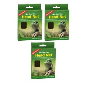 COGHLANS INSECT HEAD NET 3-PACK #0160 NO-SEE-UM ULTRA-FINE MESH INSECT HEADNET
