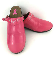 Rocky 4EurSole Clogs Patent Leather Breast Cancer Awareness Hope Pink 10.5 41 EU