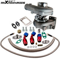 T04E T3/T4 A/R.57 73 TRIM 400+HP STAGE III TURBO CHARGER+OIL FEED+DRAIN LINE KIT