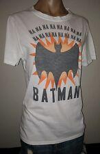 BATMAN NA NA NA NA WHITE ORANGE BAT TEE XL EXTRA LARGE WOMENS TOP SHIRT NEW NWT
