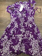 Womens Purple Flower Vest Top By New Look Size 10 BNWT