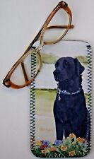 LABRADOR RETRIEVER BLACK DOG GLASSES CASE POUCH SANDRA COEN ARTIST PRINT