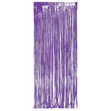 Purple Foil Door Fringe Curtain shimmer metallic hanging party decoration