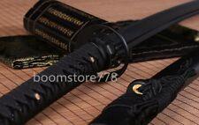 handmade Black Folded Steel Japanese Samurai Sword katana Full Tang Sharp Blade