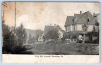 1907 EMLENTON PENNSYLVANIA*PA*WEST HILL AVENUE*HOUSES*ANTIQUE POSTCARD