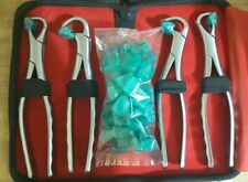 Dental Pedo Tooth Extracting Forceps Set of 4 Pieces Molar Series Dental Pliers
