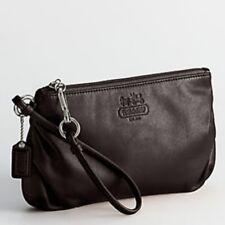 Coach Ali Mahogany Leather Wallet Large Wristlet Clutch 42647 NWOT