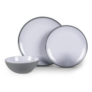 Kampa Dometic Fog Grey 12 Piece Melamine Dinner Set