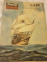 "PAPER-CARD MODEL KIT-MALY MODELARZ -""Mayflowers"""