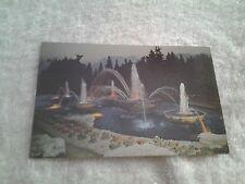 "Vintage postcard, ""SUNDOWN AT THE FOUNTAIN, KITCHENER , ONTARIO, CANADA"
