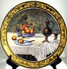 """Vintage Limoges Decorative Plate Still Life Collection """"Fruit Bowl"""" Italy (C7)"""