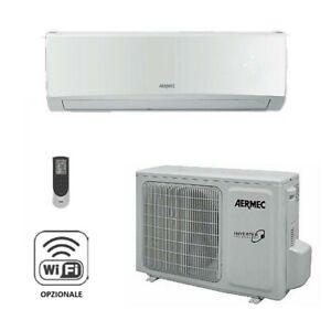 CONDIZIONATORE CLIMATIZZATORE AERMEC 12000 BTU SLG350W A++ INVERTER GAS R32