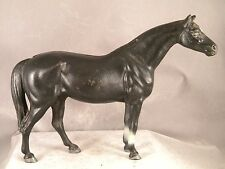 ANTIQUE HUBLEY BLACK HORSE DOORSTOP #476 ~ LANCASTER, PA