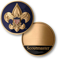 SCOUTMASTER BOY SCOUTS OF AMERICA BSA ENGRAVABLE CHALLENGE COIN BRONZE