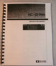 Icom IC-27H Instruction Manual - Premium Card Stock & Protective Covers!
