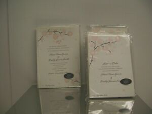 HALLMARK WEDDING INVITATIONS & SAVE THE DATE PRINT YOUR OWN CARDS WHOLESALE LOT