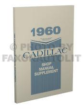 1960 Cadillac Shop Manual Deville Eldorado Serie 62 60 75 Fleetwood Reparación
