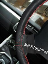 for Chevrolet Corvette C3 67-82 True Leather Steering Wheel Cover Red Double STT