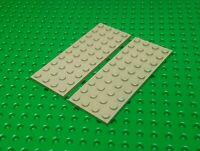 Lego Platte Space 4x10 Noppen gelb Transparent clear Top