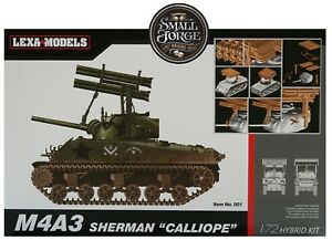 """Dragon DR7677 Sherman M4A3 Tank with """"Calliope"""" Rocket Launcher. Scale 1:72 NEW"""