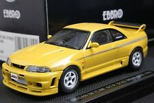 Ebbro 1:43 scale Nissan Nismo Skyline GT-R R33 400R Yellow Die Cast Model Car