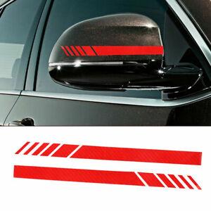 Rearview Mirror Decoration Accessories Carbon Fiber 5D Car Stickers Stripe Decal