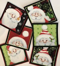 Peek-a-Boo Santas for Christmas  - Iron On Fabric Appliques - Craft Show