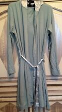 PJ Harlow Francesca Robe Aqua Sz M/L SilkHood&Belt Super Soft Supima Cotton $89
