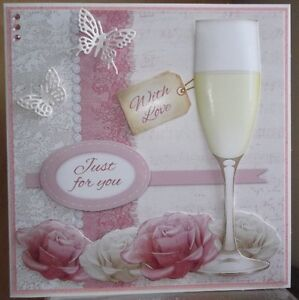 handmade vintage with love any occasion card with a celebration design