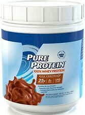 Pure Protein 100 Whey Powder Rich Chocolate, 1 pound, New, Free Shipping