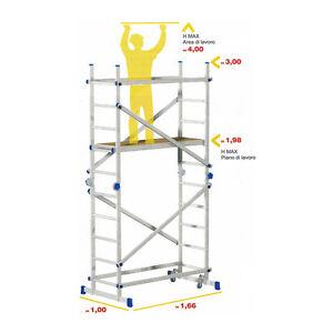 Trabattelli Alluminio TEAM Marchetti - Trasformabile in Scala e Banco Lavoro