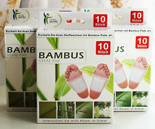 30x Bambus Pads Pflaster Vital-Pads Fußpflaster Fußpads Entgiftung Stoffwechsel