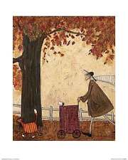 Sam Toft Following the Pumpkin Funny Animal Cat Dog Print Poster 15.75x19.75