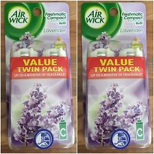 4 x AIR WICK FRESHMATIC COMPACT AUTO AIR FRESHENER REFILLS - LAVENDER SCENT