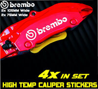 Brembo Brake Caliper Sticker Decal Car High Temp Kit Sports Audi BMW GTI AMG