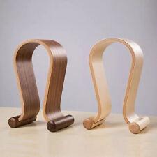 Omega Shape Wooden Headphone Holder Earphone Headset Display Rack Stand Hanger