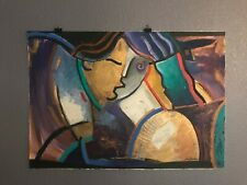 Abstract Face ~ Signed Original Oil ~ Artist Unknown. Suly T.