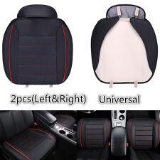 2x Schwarz PU Leder Front PKW Auto Sitzbezug Kissen Auflage Ablagefach Tasche