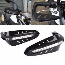 2x 22mm LED Motorbike Hand Guards Bar End Indicator for Yamaha/Suzuki Black