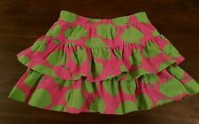 Kellys Kids Girls 3-4 Ruffle skirt Apple print VGUC