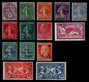 L'ANNÉE 1927 (sauf 241 242), Neufs * = Cote 148 € / Lot Timbres France 233 à 248
