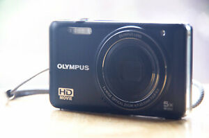 Olympus VG-160 14MP High Definition Movie Digital Camera Tested & Working