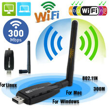 300Mbps Wireless USB WiFi Adapter Dongle Network Card FOR Windows 7 Linux MAC OS