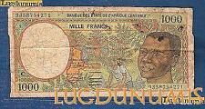 Afrique Centrale - 1000 Francs type 1991 -1993 Sign 15 C Congo Numéro 9358754271
